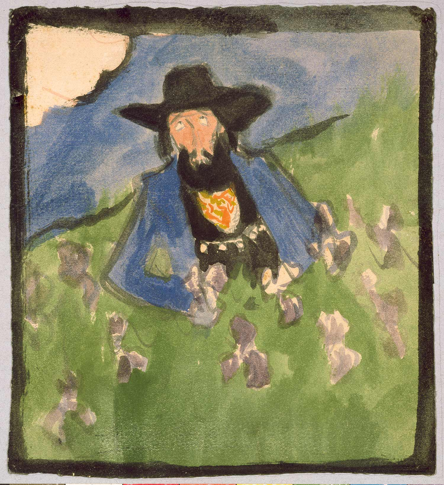 Pere Romeu in a Field of Irises