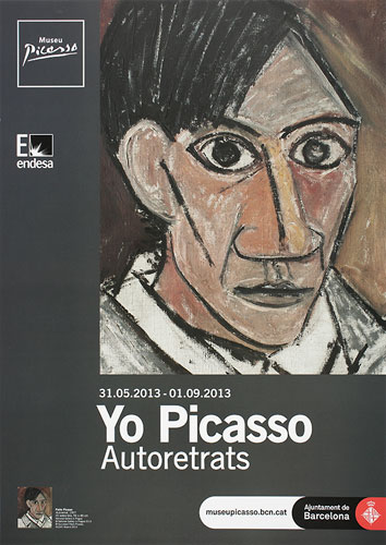 Exhibition poster for Yo Picasso. Self-portraits, 2013