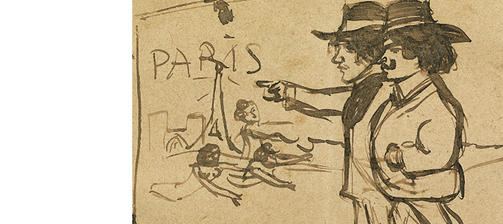 Picasso discovers Paris